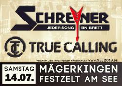 14.07.2018: Ticket für TrueCalling und Schreyner bei Rock und Blasmusik am See