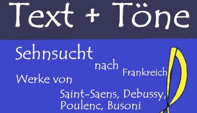 """Diesen Sonntag: Konzert """"Sehnsucht nach Frankreich"""" für Klarinette und Klavier…"""