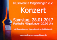 Konzert am 28.01.2017 in der Festhalle Mägerkingen