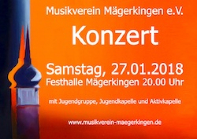 Konzert am 27.01.2018 in der Festhalle Mägerkingen